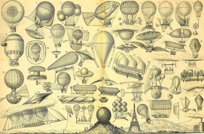 Les Toqués de la Navigation aérienne (W. de Fonvielle) / Illustration de Morieu