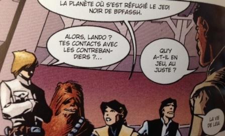 Luc, Chewie, Leia, Han et Lando