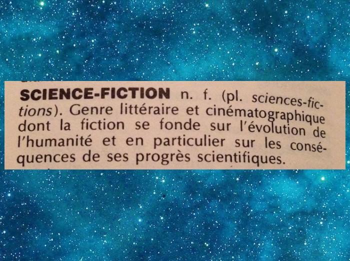 Science-fiction - Définition selon les dictionnaires