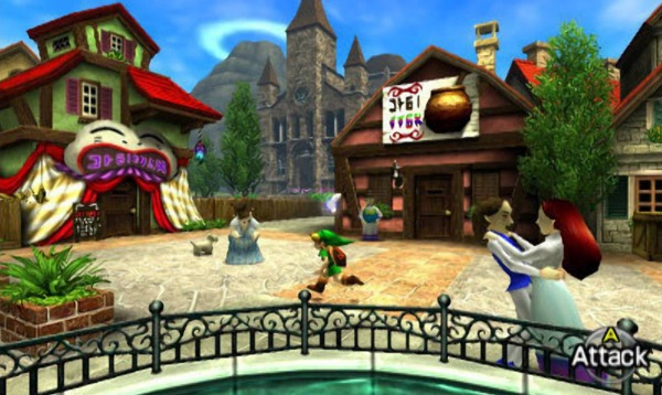 Le Bourg d'Hyrule dans Ocarina Of Time