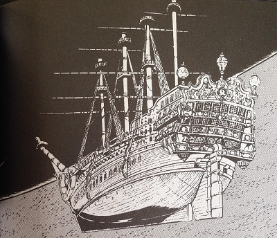 Le Galion du Queen Emeraldas du manga