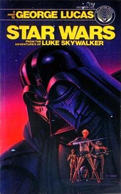 Couverture de la première novélisation Star Wars