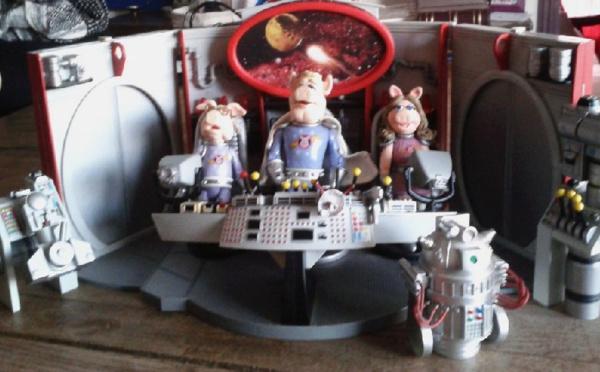 Muppet Show - Diorama Les Cochons dans l'Espace